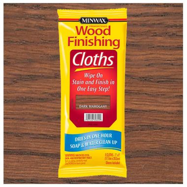 Салфетки MINWAX WOOD FINISHING CLOTHS тёмный махагон 30824